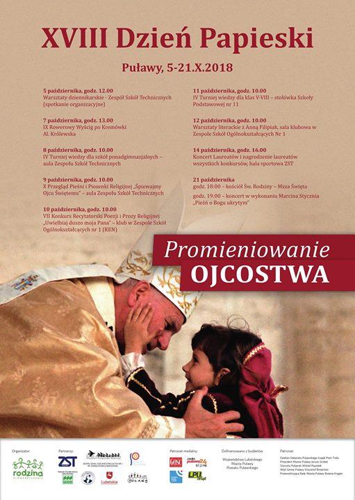 XVIII Dzień Papieski w Puławach ️w ramach wydarzenia organizowanych jest wiele konkursów, turniejów, warsztatów…