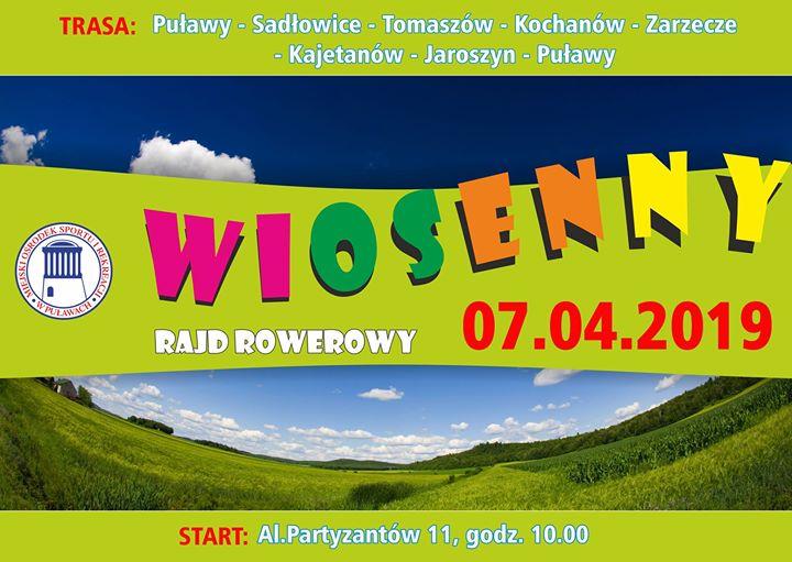 ️️ Już jutro Mosir Puławy serdecznie zaprasza na wiosenny rajd rowerowy