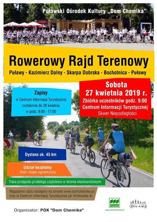 ️️Centrum Informacji Turystycznej w Puławach zaprasza do udziału w terenowym rajdzie rowerowym, który odbędzie…