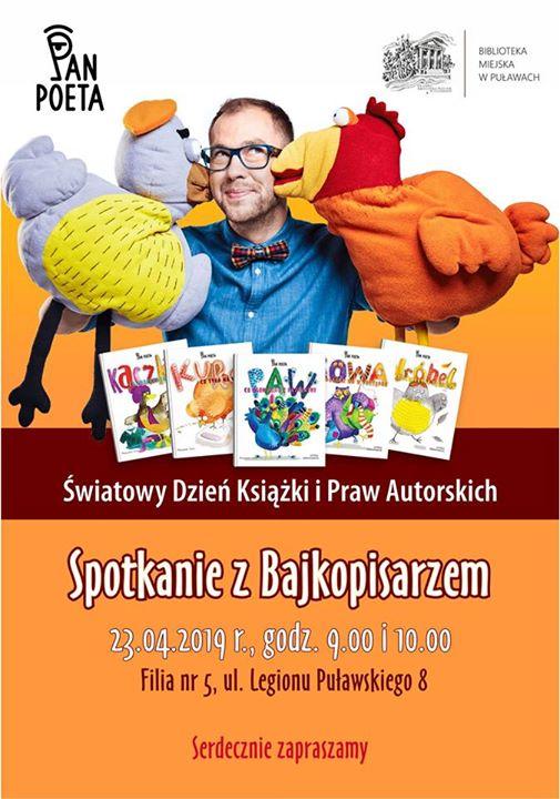 ️W ramach Światowego Dnia Książki i Praw Autorskich, Biblioteka Miejska w Puławach zaprasza na…