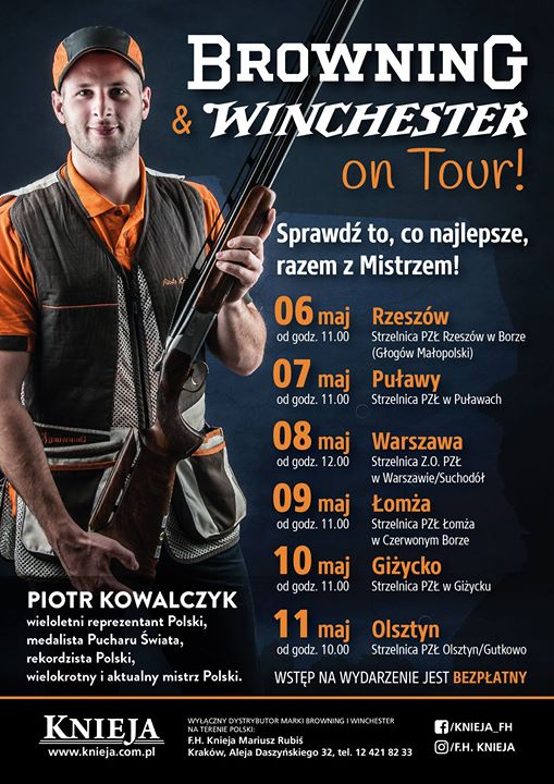 Zapraszamy na spotkanie z marką Browning i Winchester. Podróż po Polsce, gdzie na 6…