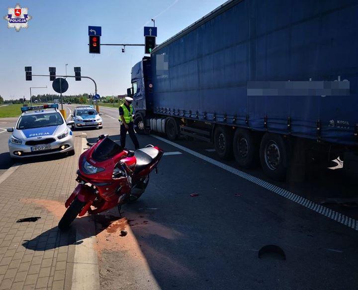 Do zdarzenia doszło r w godz. porannych. Kierowca samochodu ciężarowego marki Scania, 46-letni mieszkaniec…