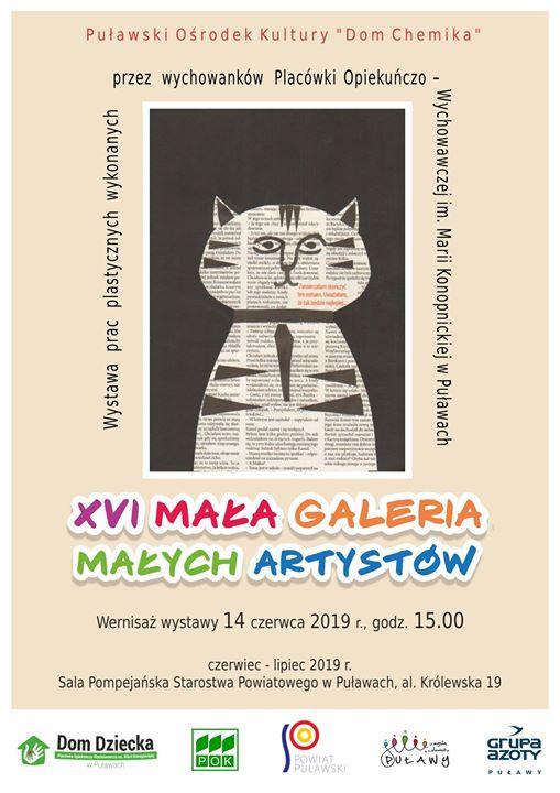 14 czerwca o godz. odbędzie się wernisaż wystawy XVI Małej Galerii Małych Artystów, w…