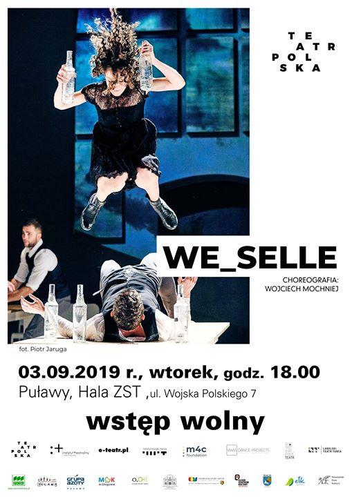 """Na spektakl """"We_selle"""" zapraszamy 3 września o godz. 18:00 do Hali Sportowej Zespołu Szkół…"""